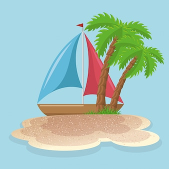 Conjunto de vacatrias de verão ícones