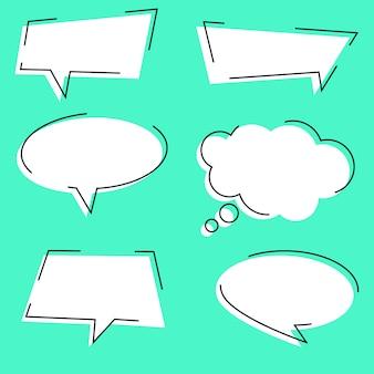 Conjunto de variação de bolha de discurso de contorno simples