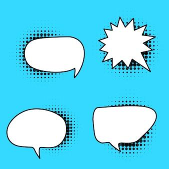 Conjunto de variação de bolha de discurso em quadrinhos