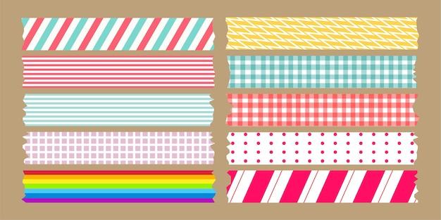 Conjunto de variedades de fita adesiva