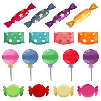 Conjunto de vários doces