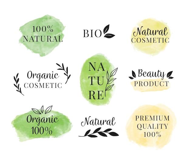 Conjunto de vários logotipos de cosméticos