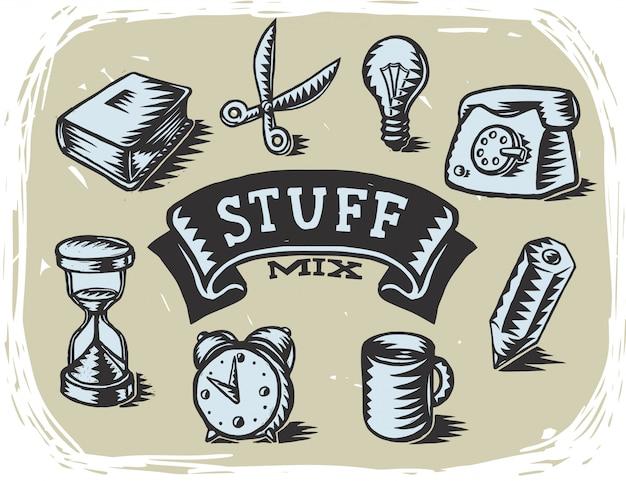 Conjunto de vários objetos gráficos