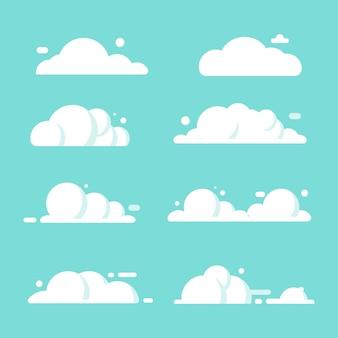 Conjunto de vários vetor de ilustração de nuvem