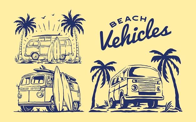 Conjunto de veículos de praia
