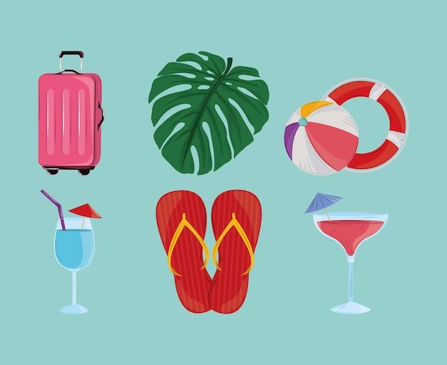 Conjunto de verão tropical