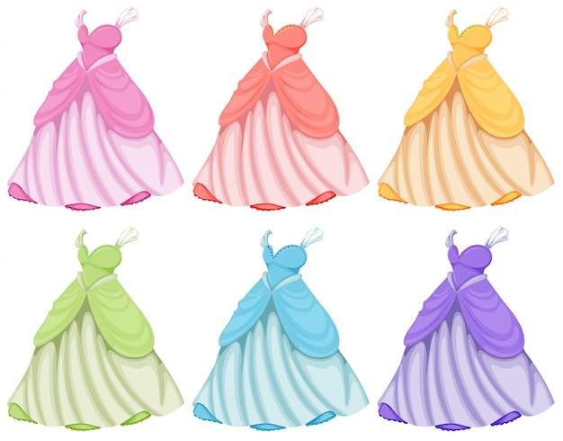 Conjunto de vestidos