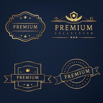 Conjunto de vetor de crachás premium