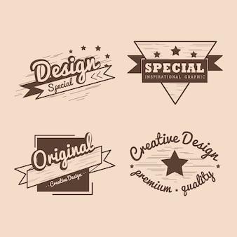 Conjunto de vetor de distintivo de qualidade premium