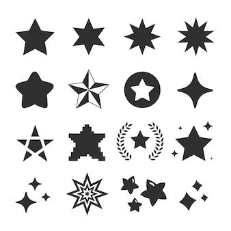Conjunto de vetor de ícone de estrela