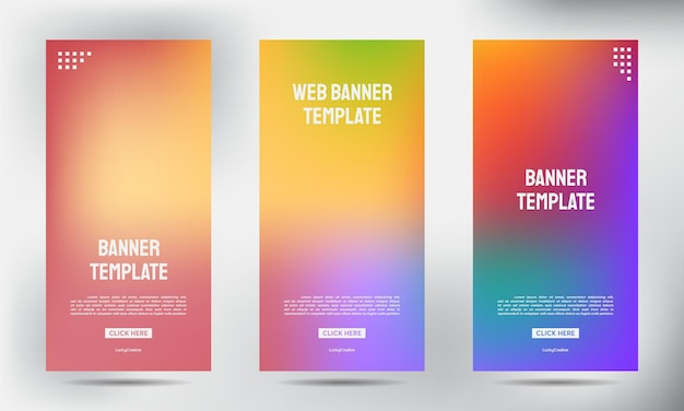 Conjunto de vetor de modelo vertical de vetor de modelo vertical, fundo de apresentação de capa, publicação moderna x-banner e bandeira-banner, roll up banner stand design modelo