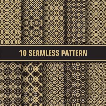 Conjunto de vetores abstratos padrões sem emenda