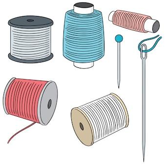 Conjunto de vetores de acessórios de costura