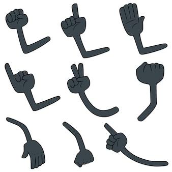Conjunto de vetores de armas dos desenhos animados