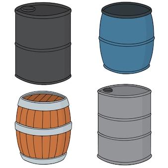 Conjunto de vetores de barril