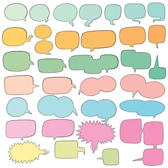 Conjunto de vetores de bolhas do discurso