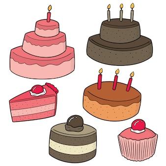 Conjunto de vetores de bolos