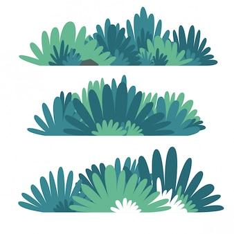 Conjunto de vetores de bush plana