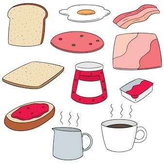 Conjunto de vetores de café da manhã
