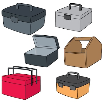 Conjunto de vetores de caixa de ferramentas