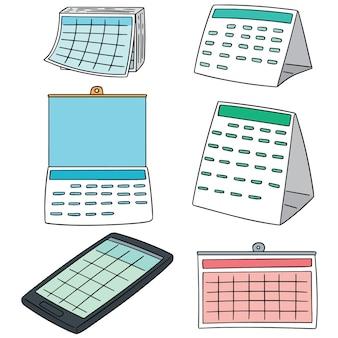 Conjunto de vetores de calendário