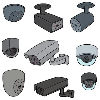 Conjunto de vetores de câmera de segurança