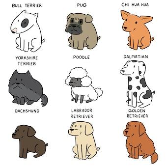 Conjunto de vetores de cão