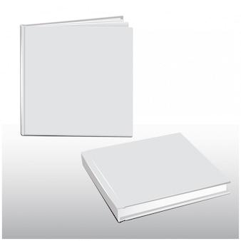Conjunto de vetores de capa em branco de modelo de livro branco