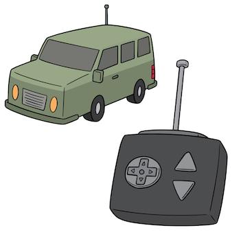 Conjunto de vetores de carro de controle remoto
