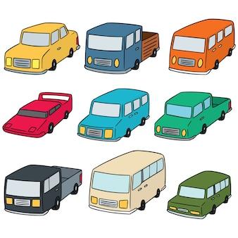 Conjunto de vetores de carros