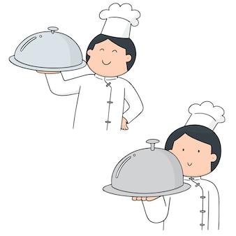 Conjunto de vetores de chef