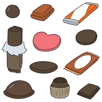 Conjunto de vetores de chocolate