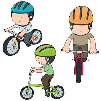 Conjunto de vetores de ciclista