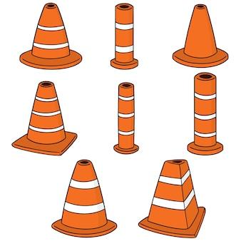 Conjunto de vetores de cone de trânsito