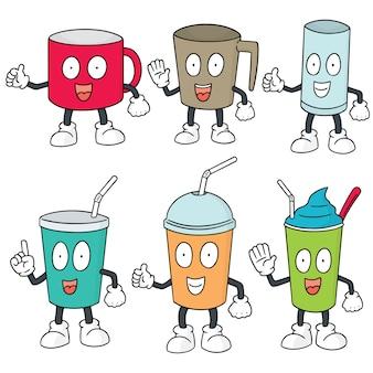 Conjunto de vetores de copo de bebida