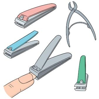 Conjunto de vetores de cortador de unha