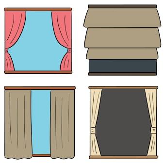 Conjunto de vetores de cortinas