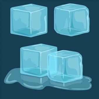 Conjunto de vetores de cubos de gelo