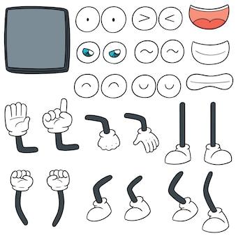 Conjunto de vetores de desenhos animados de smartphone
