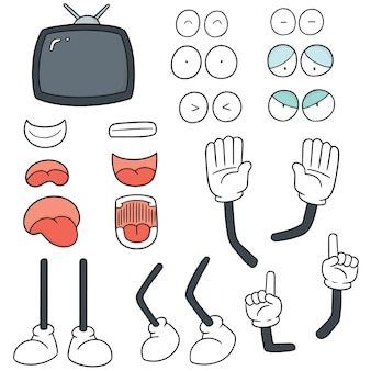 Conjunto de vetores de desenhos animados de televisão