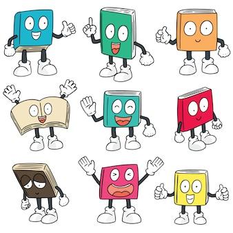 Conjunto de vetores de desenhos animados do livro