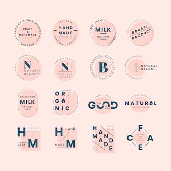 Conjunto de vetores de design de distintivo de logotipo