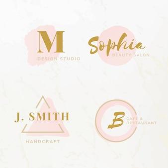 Conjunto de vetores de design de logotipo de beleza e moda