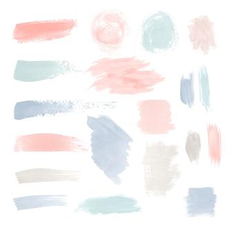 Conjunto de vetores de design de pincelada colorida