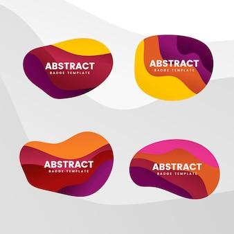 Conjunto de vetores de design distintivo abstrato