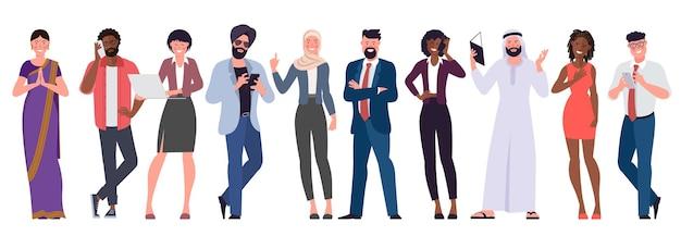 Conjunto de vetores de design plano de multicultural