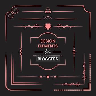 Conjunto de vetores de elementos de design