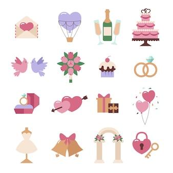 Conjunto de vetores de elementos do casamento isolado