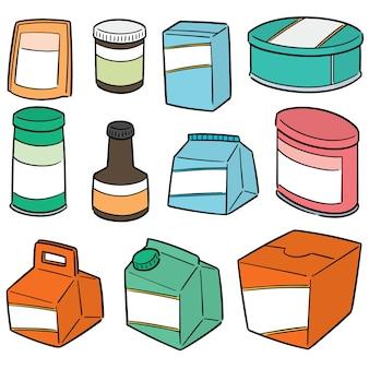 Conjunto de vetores de embalagens