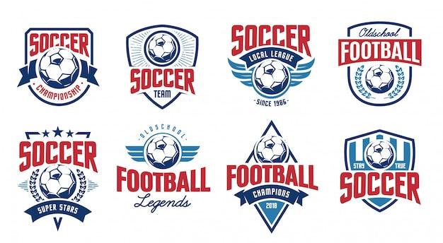 Conjunto de vetores de emblemas clássicos do futebol europeu.